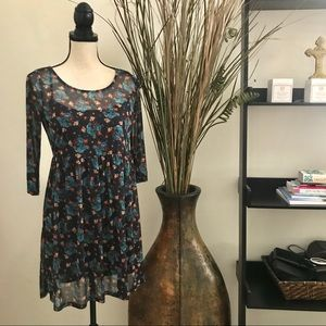 Flower Print Tunic Style Dress